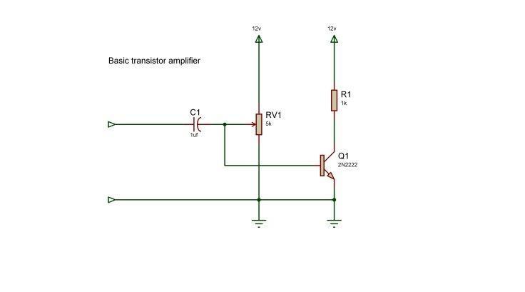 Basic transistor amplifier