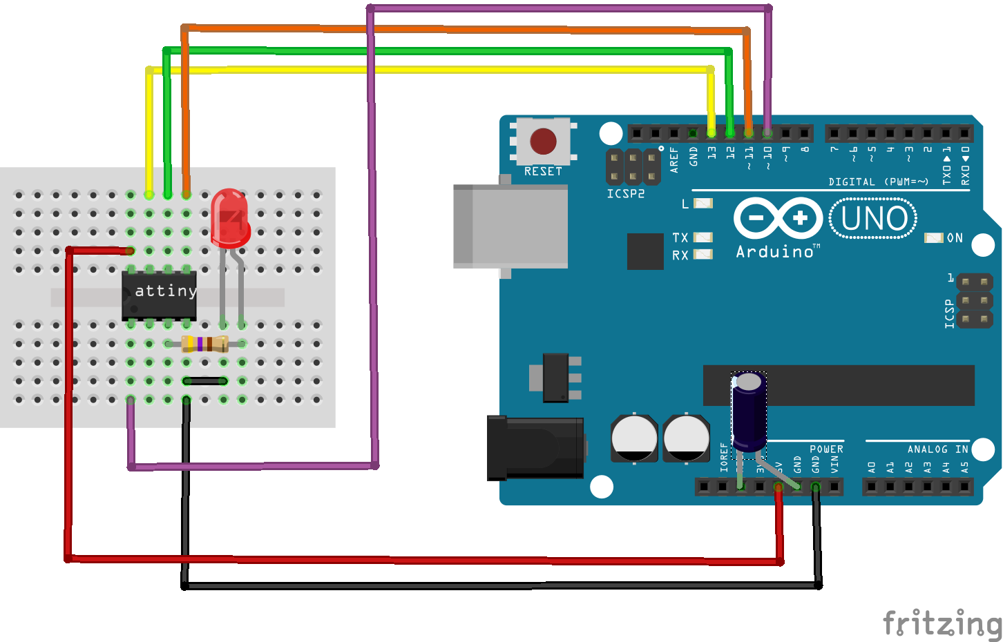 Programming attiny with arduino uno get electronics
