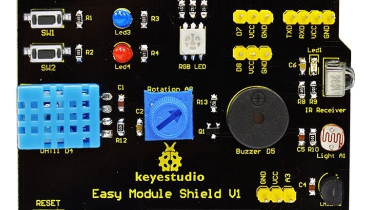 Easy Module Shield for Arduino : 7 examples